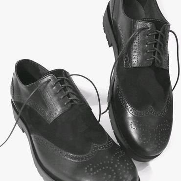 """Обувь ручной работы. Ярмарка Мастеров - ручная работа """"Броги""""мужские на платформе.. Handmade."""