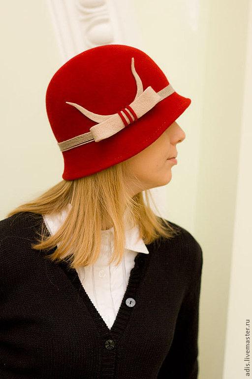 Шляпы ручной работы. Ярмарка Мастеров - ручная работа. Купить Шляпа клош бордо. Handmade. Бордовый, шляпка, велюр