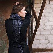 Одежда handmade. Livemaster - original item Black sheath dress with sleeves. Handmade.