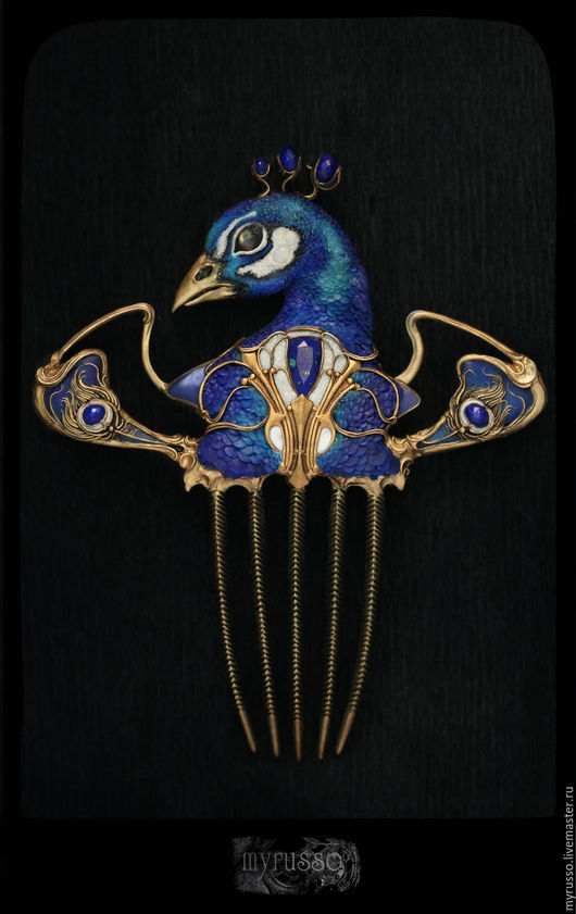 Комплекты украшений ручной работы. Ярмарка Мастеров - ручная работа. Купить La danse du paon bleu azur. Handmade.