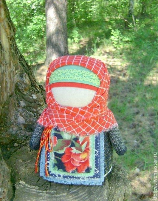 """Народные куклы ручной работы. Ярмарка Мастеров - ручная работа. Купить кукла Крупеничка """"Во лесочке"""". Handmade. Ярко-красный"""