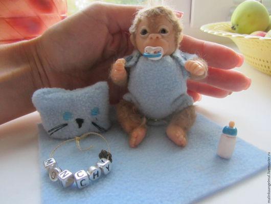 Куклы-младенцы и reborn ручной работы. Ярмарка Мастеров - ручная работа. Купить продан Мини реборн обезьянчик Мончи. Handmade.