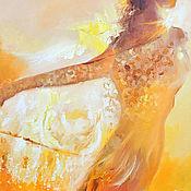 Картины и панно ручной работы. Ярмарка Мастеров - ручная работа Ангел света - картина маслом. Handmade.