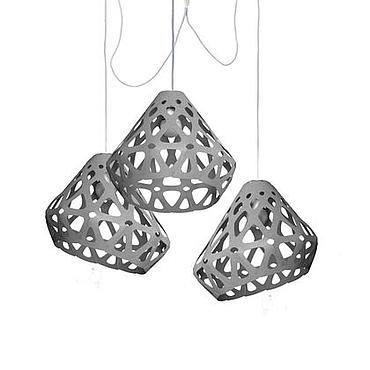 Для дома и интерьера ручной работы. Ярмарка Мастеров - ручная работа ZAHA LIGHT серая трехрожковая люстра. Handmade.