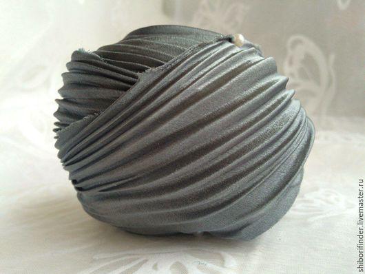 Для украшений ручной работы. Ярмарка Мастеров - ручная работа. Купить №27 Металлик - ленты шибори. Handmade. ленты шибори