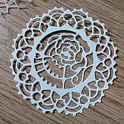 Материалы для творчества handmade. Livemaster - original item Cutting scrapbooking TECHNO rose, tissue paper, cardboard design. Handmade.