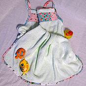 """Для дома и интерьера ручной работы. Ярмарка Мастеров - ручная работа Полотенце передник махровое для новорожденного """"Нежность мамы"""". Handmade."""