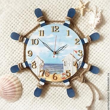 Для дома и интерьера ручной работы. Ярмарка Мастеров - ручная работа Часы настенные в морском стиле. Handmade.