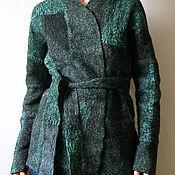 """Одежда ручной работы. Ярмарка Мастеров - ручная работа Жакет-кимоно войлочный """"Патина"""". Handmade."""