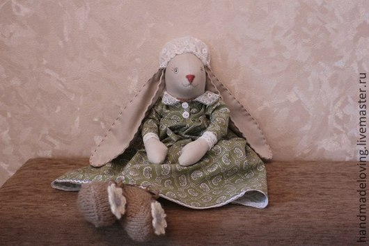 Куклы Тильды ручной работы. Ярмарка Мастеров - ручная работа. Купить Зайчишка. Handmade. Бежевый, тильда, игрушка