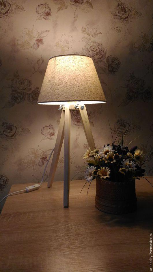 Освещение ручной работы. Ярмарка Мастеров - ручная работа. Купить Лампа тренога. Handmade. Бежевый, тренога, лампа ручной работы