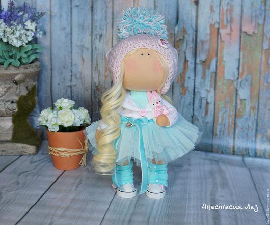 Коллекционные куклы ручной работы. Ярмарка Мастеров - ручная работа. Купить Повтор Снежинки. Handmade. Мятный, интерьерное украшение, рукоделие