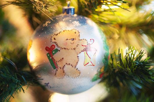 """Новый год 2017 ручной работы. Ярмарка Мастеров - ручная работа. Купить Елочный шарик """"Медвежий Новый год"""". Handmade."""