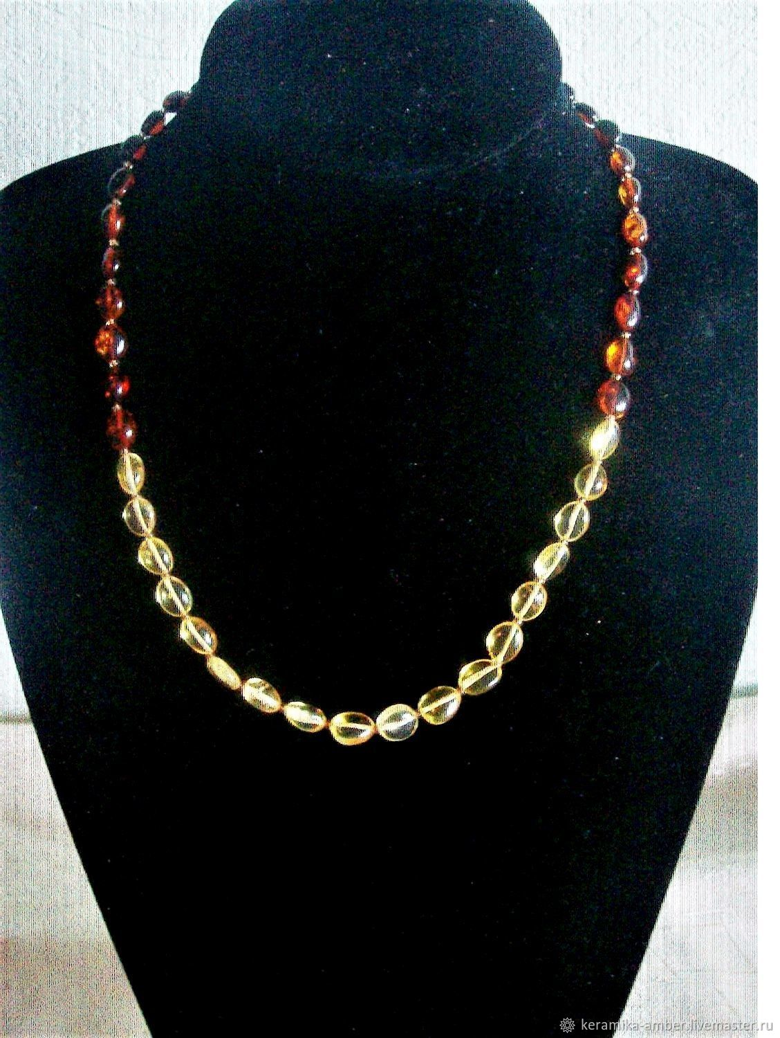Amber beads amber natural stone jewelry for women, Necklace, Kaliningrad,  Фото №1