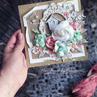 Сувениры и подарки ручной работы. Ярмарка Мастеров - ручная работа Открытка свадебная. Handmade.