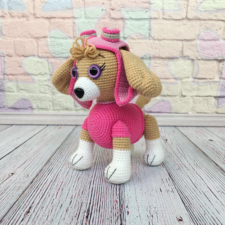 Вязаная собака Скай, щенячий патруль, Мягкие игрушки, Барнаул,  Фото №1