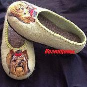 """Обувь ручной работы. Ярмарка Мастеров - ручная работа Тапочки """"Йорк"""". Handmade."""