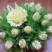 Цветы и флористика ручной работы. Ярмарка Мастеров - ручная работа Кремовые розы. Handmade.
