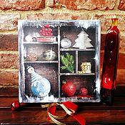 Подарки к праздникам handmade. Livemaster - original item Festive box with bow. Handmade.