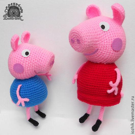 Сказочные персонажи ручной работы. Ярмарка Мастеров - ручная работа. Купить Свинка Пеппа. Handmade. Розовый, peppa, амигуруми, мультяшки