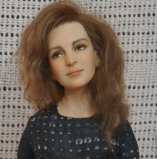 Портретные куклы ручной работы. Ярмарка Мастеров - ручная работа. Купить Портретная кукла. Handmade. Черный, портрет