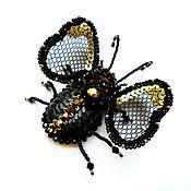 Украшения handmade. Livemaster - original item Brooch Brooch made of beads and sequins Fly. Handmade.