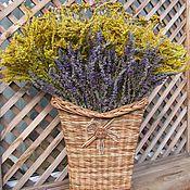 Для дома и интерьера ручной работы. Ярмарка Мастеров - ручная работа Букет полевых цветов в плетеной корзине. Handmade.