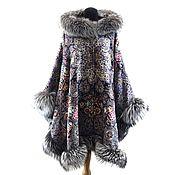 Одежда handmade. Livemaster - original item From ponchos shawls with fur. Handmade.