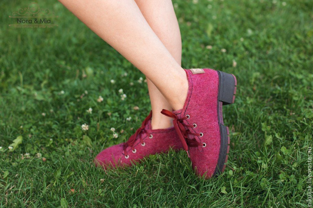 Shoes women's felted Berry Mix, Shoes, Dnepropetrovsk,  Фото №1