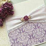 Свадебный салон ручной работы. Ярмарка Мастеров - ручная работа Приглашения на свадьбу с цветами. Handmade.