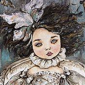 Картины ручной работы. Ярмарка Мастеров - ручная работа Портрет девочки. Handmade.