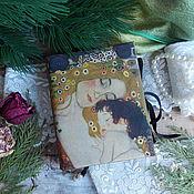 """Канцелярские товары ручной работы. Ярмарка Мастеров - ручная работа Блокнот """" Мать и дитя """". Handmade."""