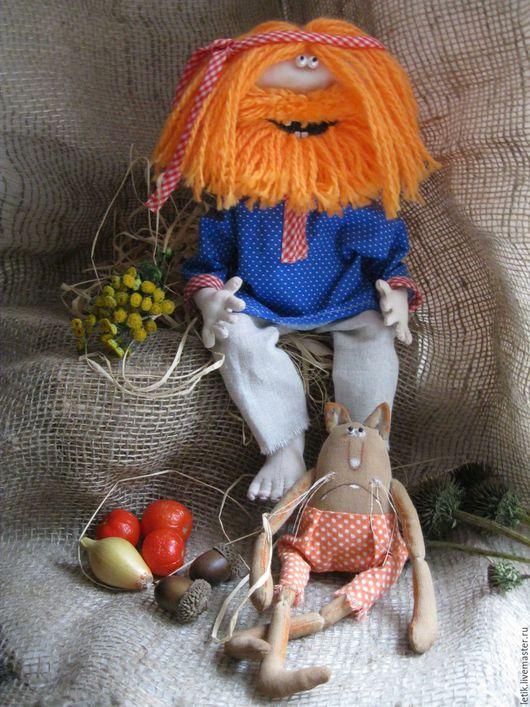 Коллекционные куклы ручной работы. Ярмарка Мастеров - ручная работа. Купить Домовой и кот. Handmade. Комбинированный, оберег ручной работы