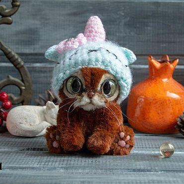 Куклы и игрушки ручной работы. Ярмарка Мастеров - ручная работа Кот, аббисинский кот, тедди кот, ручная работа. Handmade.