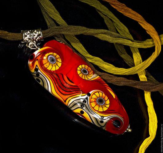 """Кулоны, подвески ручной работы. Ярмарка Мастеров - ручная работа. Купить Кулон """" Красный"""". Лэмпворк. Handmade. Лэмпворк"""