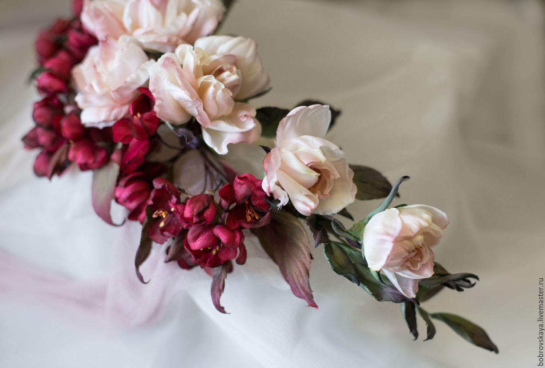 Цветы из шелка, Цветочный декор, Петергоф,  Фото №1
