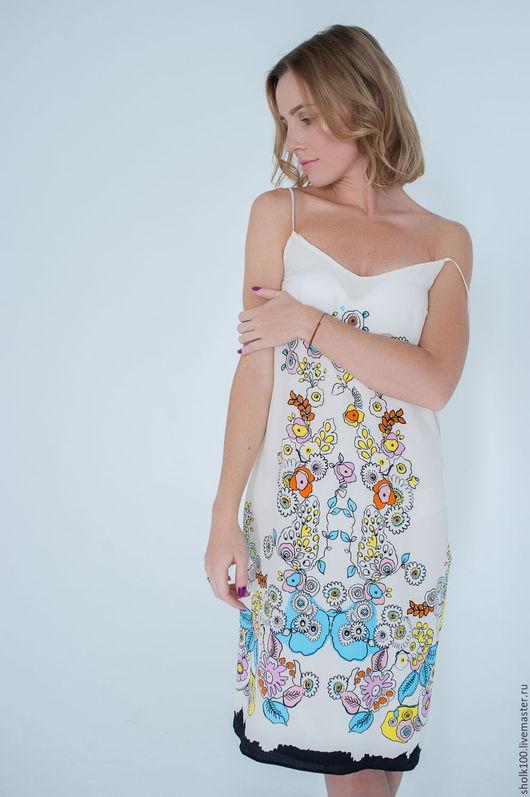 Платья ручной работы. Ярмарка Мастеров - ручная работа. Купить Шелковое платье. Handmade. Комбинированный, платье, Платье из шелка, шелк