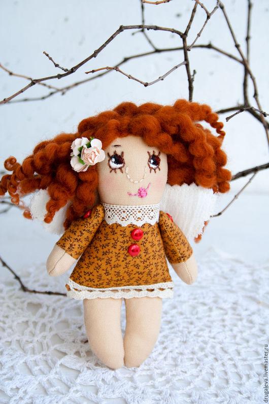 Коллекционные куклы ручной работы. Ярмарка Мастеров - ручная работа. Купить Ангел доброго сна, текстильная кукла, маленький ангелок. Handmade.