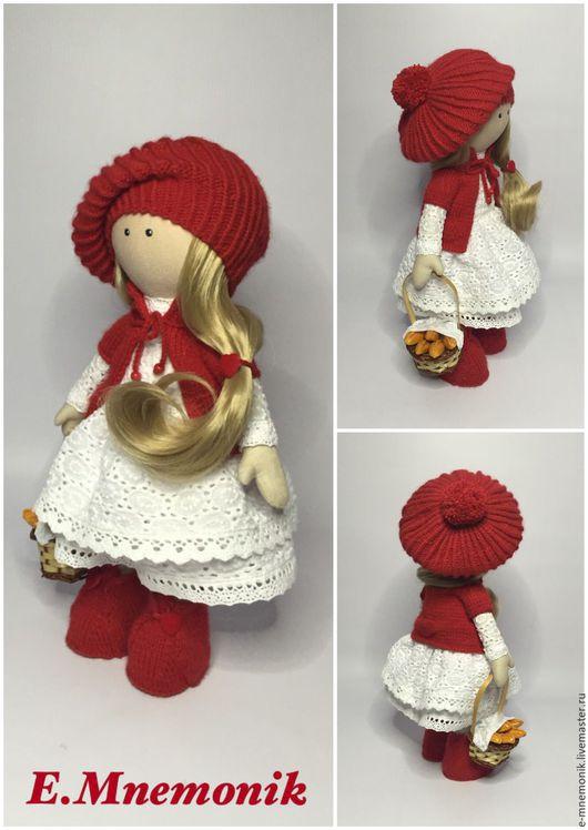 Коллекционные куклы ручной работы. Ярмарка Мастеров - ручная работа. Купить Красная шапочка. Handmade. Ярко-красный, кукла в подарок
