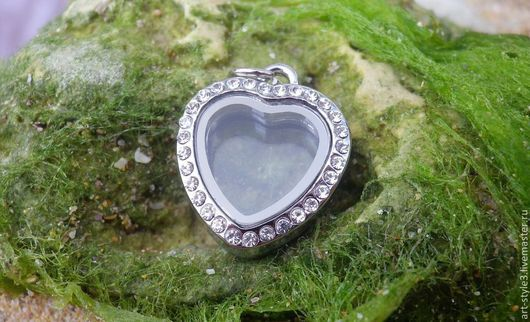 Для украшений ручной работы. Ярмарка Мастеров - ручная работа. Купить Медальон мини-сердечко для драгоценных камней. Handmade.