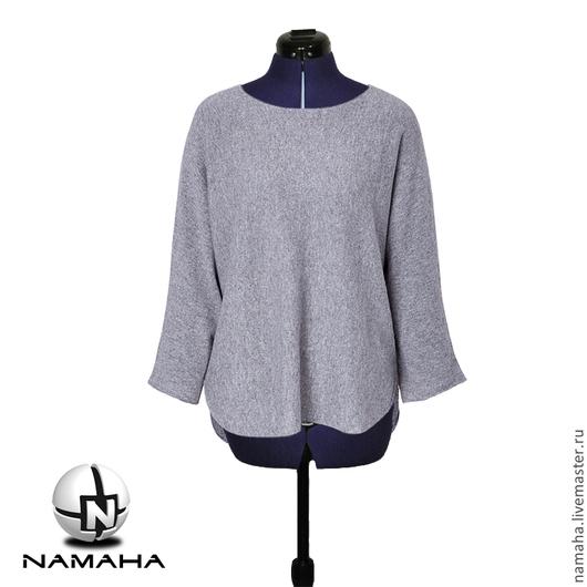 Кофты и свитера ручной работы. Ярмарка Мастеров - ручная работа. Купить Джемпер женский серый, тёплый свитер, свитшот женский тёплый. Handmade.