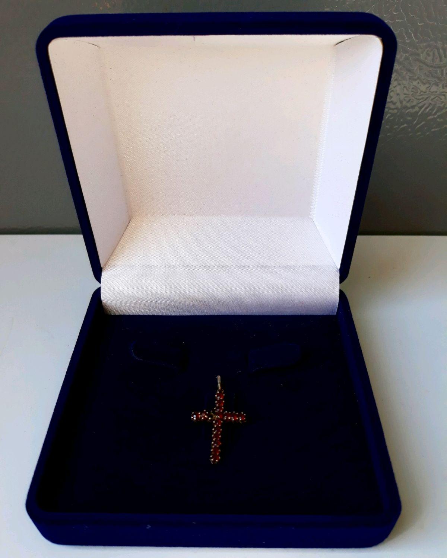 Antique cross . Garnet , Vintage pendants, Albi,  Фото №1