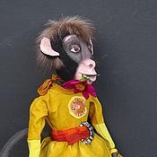 Куклы и игрушки ручной работы. Ярмарка Мастеров - ручная работа игрушка обезьянка Аджамбо. Handmade.