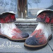 """Обувь ручной работы. Ярмарка Мастеров - ручная работа Валяные ботинки  """" Осень"""". Handmade."""