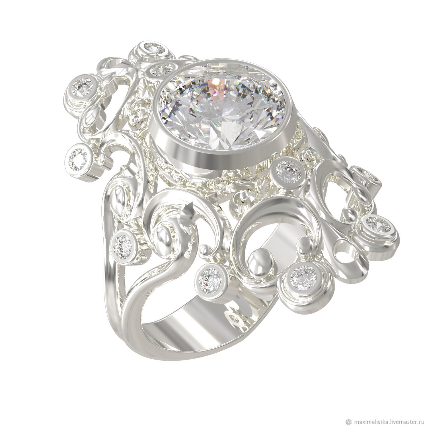Gold ring 'your Excellency' with diamonds, Rings, Moscow,  Фото №1