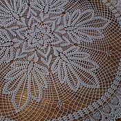 Для дома и интерьера ручной работы. Ярмарка Мастеров - ручная работа Скатерть крючком малая круглая. Handmade.