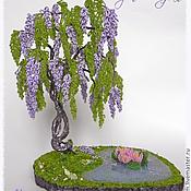 Цветы и флористика ручной работы. Ярмарка Мастеров - ручная работа Глициния из бисера. Handmade.