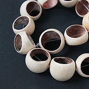 Материалы для творчества handmade. Livemaster - original item Beads frame a slice of a walnut tree Pitot 22mm. Handmade.