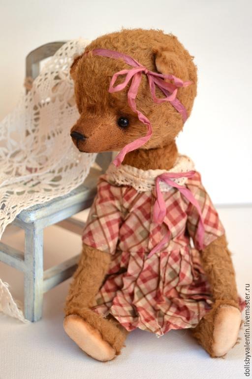 Мишки Тедди ручной работы. Ярмарка Мастеров - ручная работа. Купить Муся мишка тедди. Handmade. Коричневый, вискоза Германия