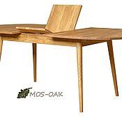 Столы ручной работы. Ярмарка Мастеров - ручная работа Стол обеденный раздвижной Сканди 2Р из массива дуба, бейц масло. Handmade.